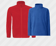 fleece kleding bedrukken of borduren