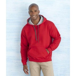 Sweater Hooded Contrast Heavyblend