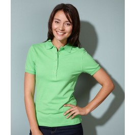 J&N Ladies' Elastic Polo Pique