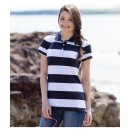 Women's Striped Piqué Polo Shirt