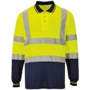 Hi-Vis Two-Tone Longsleeve Polo Shirt