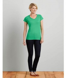 Dames T-Shirt V-Neck Softstyle