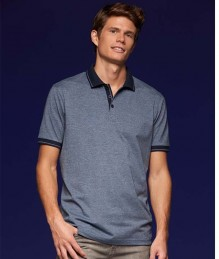 J&N Men's Heather Polo