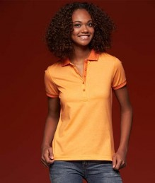 J&N Ladies' Heather Polo