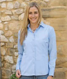 Dames Poplin Mix Shirt LS