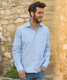 Heren Poplin Mix Shirt LS