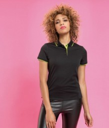 Ladies' Contrast Coolchecker Polo