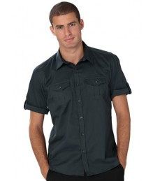 Russell men's roll sleeve shirt