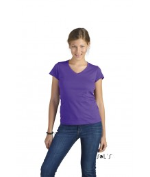 Ladies V-Neck T-Shirt Moon